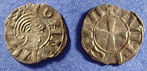 Ancient Coins - Crusader Antioch - Bohemund III Minority 1149-1163 Denier