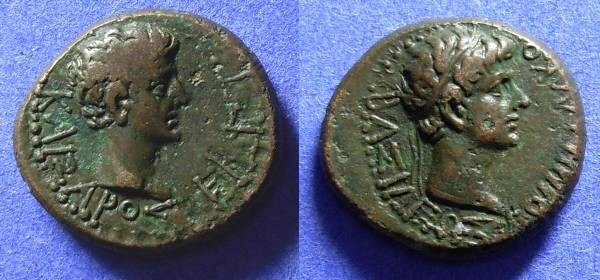 Ancient Coins - Kings of Thrace - Rhoemetalkes & Augustus AE19