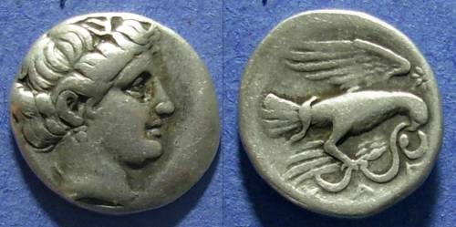 Ancient Coins - Chalkis,  338-308 BC, Drachm