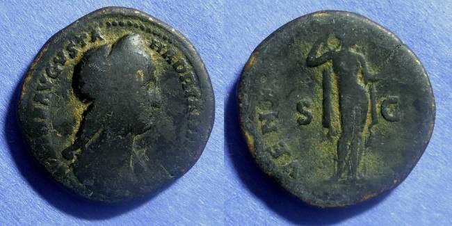 Ancient Coins - Roman Empire Sabina (wife of Hadrian) D. 137 Sestertius