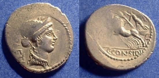 Ancient Coins - Roman Republic: Denarius - Considia 6 - 46 BC