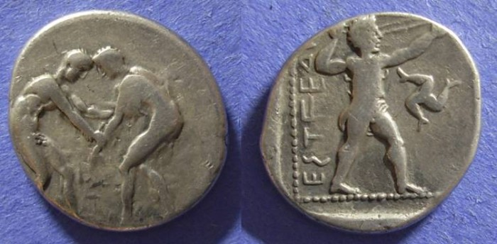 Ancient Coins - Aspendos, Pamphylia 380-325 BC, Stater