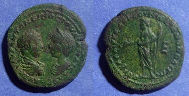 Ancient Coins - Marcianopolis, Elagabalus & Julia Maesa 218-222 AD, AE28