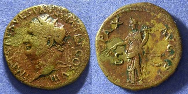 Ancient Coins - Titus – as Augustus – 79-81AD Dupondius