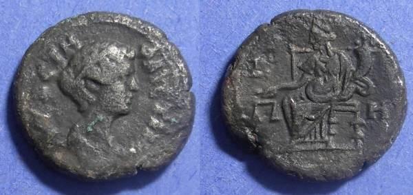 Ancient Coins - Roman Egypt, Faustina Jr (under Pius) Struck 154-5, Tetradrachm