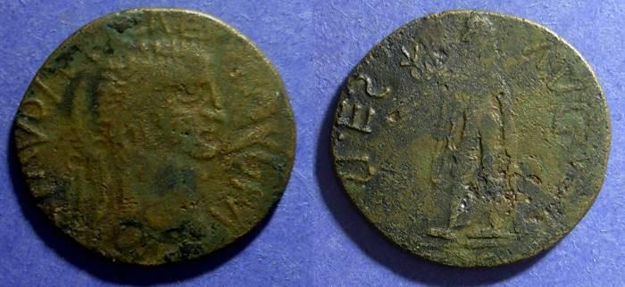 Ancient Coins - Roman Empire, Claudius Circa 50 AD, Imit. Sestertius