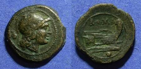 Ancient Coins - Roman Republic, Anonymous 211-206 BC, Uncia