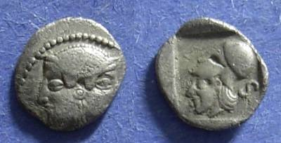 Ancient Coins - Lampsacus, Mysia 480-450 BC, Obol