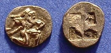 Ancient Coins - Thasos Thrace Obol Circa 500BC