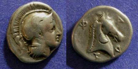 Ancient Coins - Pharsalos, Thessaly Circa 400 BC, Hemidrachm