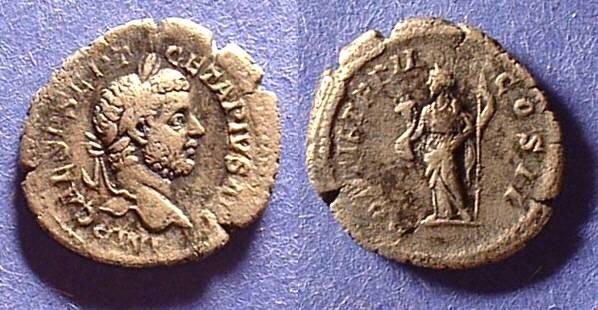 Ancient Coins - Geta - as Augustus 208-212AD Denarius
