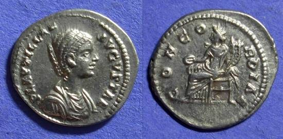 Ancient Coins - Plautilla (wife of Caracalla) D. 205AD Denarius