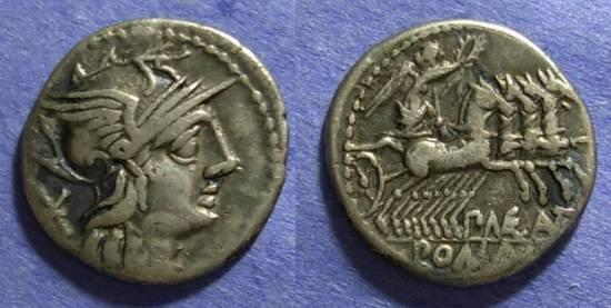 Ancient Coins - Roman Republic, P Maenius Antiaticus Mf 132 BC, Denarius
