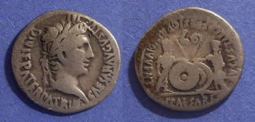Ancient Coins - Roman Empire, Augustus 27BC-14 AD, Denarius