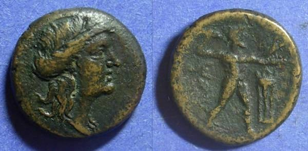 Ancient Coins - Messene  191-183 BC AE20 (Hemiobol)