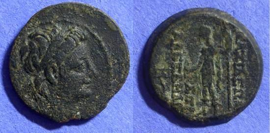 Ancient Coins - Seleucid Kingdom - Alexander II Zebina 128-123BC AE20