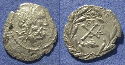 Ancient Coins - Achaian League, Dyme Achaia 88-30 BC, Hemidrachm