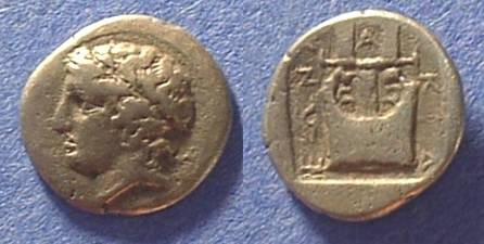 Ancient Coins - Olynthos Macedonia - Chalkideon League 432-348 BC Tetrobol