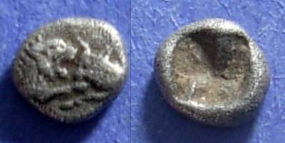 Ancient Coins - Lydia, Croesus ( Kroisos ) 561-546 BC, 1/24 stater