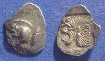 Ancient Coins - Kyzikus, Mysia 480-450 BC, Hemiobol