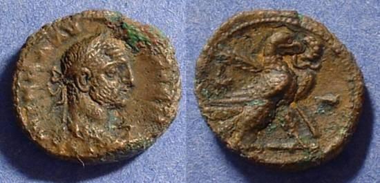 Ancient Coins - Roman Egypt - Claudius II Gothicus 268-70AD - Potin Tetradrachm