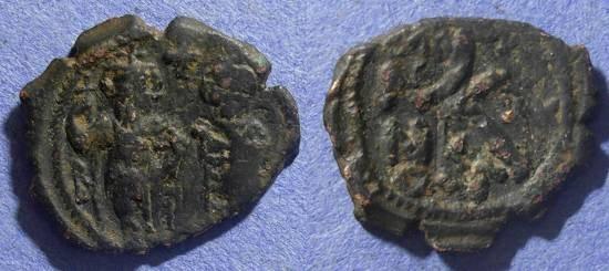 Ancient Coins - Byzantine Empire, Heraclius 610-641 AD, Half Follis