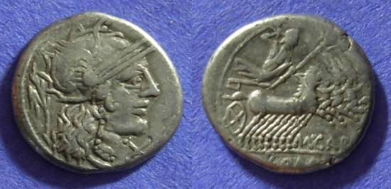 Ancient Coins - Roman Republic - M Carbo - Denarius 122BC