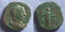 Ancient Coins - Roman Empire, Trebonianus Gallus 251-3, Sestertius