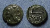 Ancient Coins - Tauric Chersonesos, Phanagoria Circa 350 BC, AE12