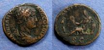 Ancient Coins - Roman Empire, Hadrian 117-138, As - Travel series, Egypt
