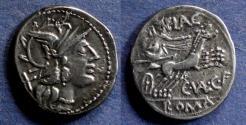 Ancient Coins - Roman Republic, C Balerius C f Flaccus 140 BC, Denarius