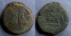 Ancient Coins - Roman Republic, Pinarius Natta 155 BC, Aes