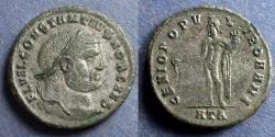 Ancient Coins - Roman Empire, Constantius I (as Caesar) 293-305, Follis