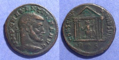 Ancient Coins - Roman Empire, Maxentius 306-312, Follis 25mm