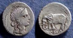 Ancient Coins - Roman Republic, Q Caecilius Metellus Pius 81 BC, Denarius