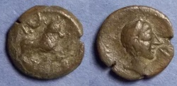 Ancient Coins - Spain, Castulo Circa 150 BC, AE18