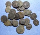 Ancient Coins - Group of 28 Roman coins,  Circa 250 to 400 AD, Bronze