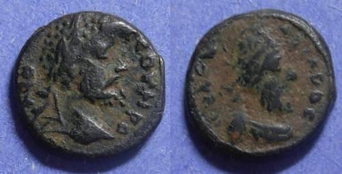 Ancient Coins - Edessa Messopotamia, S. Severus & Abgar VIII Circa 175 AD, AE14