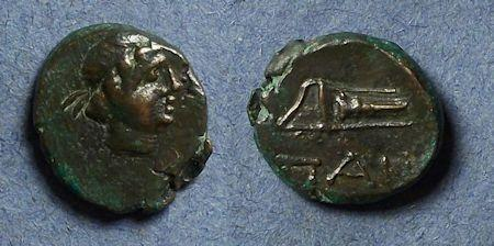 Ancient Coins - Tauric Chersonesos, Pantikapaion Circa 300 BC, AE12