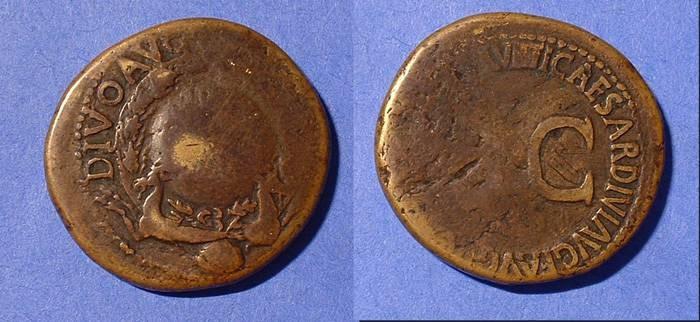 Ancient Coins - Augustus 27-14 AD- Posthumous Sestertius by Tiberius