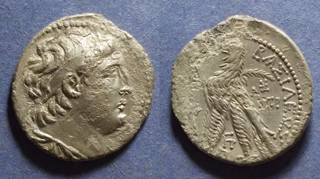 Ancient Coins - Seleukid Kingdom, Antiochos VII 138-129 BC, Tetradrachm