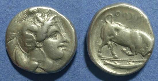Ancient Coins - Lucania, Thourioi 350-300 BC, Nomos