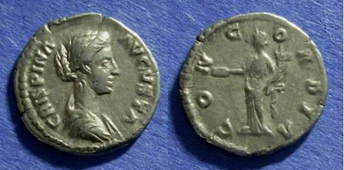 Ancient Coins - Roman Empire Crispina (Wife of Commodus) d Denarius