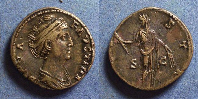 Ancient Coins - Roman Empire, Diva Faustina Sr d. 141, As