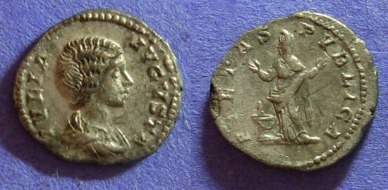 Ancient Coins - Julia Domna – wife of S. Severus – 193-217AD Denarius