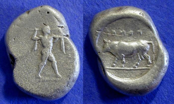Ancient Coins - Poseidonia Lucania - Stater 445-420 BC