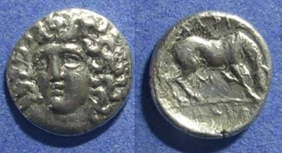 Ancient Coins - Thessaly, Larissa 356-344 BC, Hemidrachm
