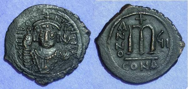 Ancient Coins - Byzantine Empire Tiberius II Constantine 578-582 Follis