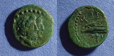 Ancient Coins - Arados Phoenicia, AE16 2nd to 1st century BC - nice green patina