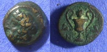 Ancient Coins - Cyclades – Naxos AE11 – Circa 350 BC